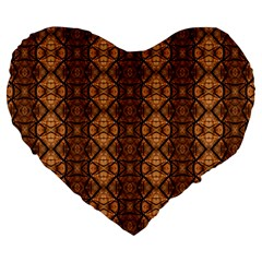 Faux Animal Print Pattern 19  Premium Heart Shape Cushion by creativemom