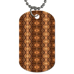 Faux Animal Print Pattern Dog Tag (two Sided)  by creativemom