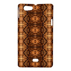Faux Animal Print Pattern Sony Xperia Miro Hardshell Case  by creativemom