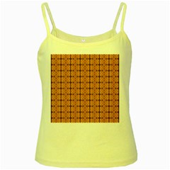Faux Animal Print Pattern Yellow Spaghetti Tank by creativemom