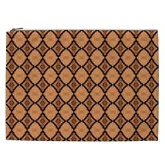 Faux Animal Print Pattern Cosmetic Bag (xxl) by creativemom