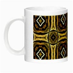 Faux Animal Print Pattern Glow In The Dark Mug by creativemom