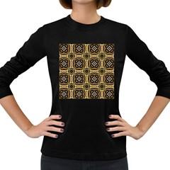 Faux Animal Print Pattern Women s Long Sleeve T Shirt (dark Colored) by creativemom