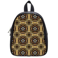 Faux Animal Print Pattern School Bag (small) by creativemom