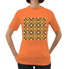 Faux Animal Print Pattern Women s T Shirt (colored) by creativemom