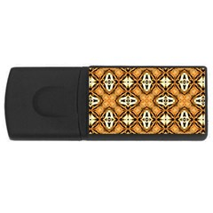Faux Animal Print Pattern 4gb Usb Flash Drive (rectangle) by creativemom