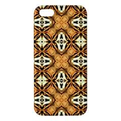 Faux Animal Print Pattern Apple Iphone 5 Premium Hardshell Case by creativemom