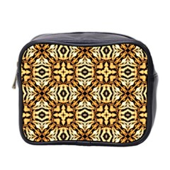 Faux Animal Print Pattern Mini Travel Toiletry Bag (two Sides) by creativemom