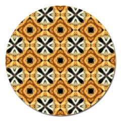 Faux Animal Print Pattern Magnet 5  (round) by creativemom