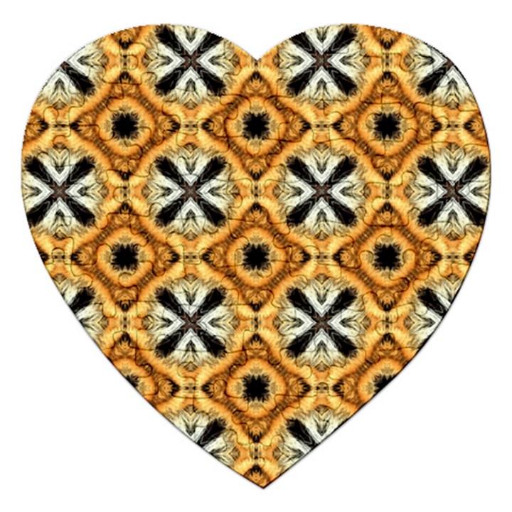 Faux Animal Print Pattern Jigsaw Puzzle (Heart)