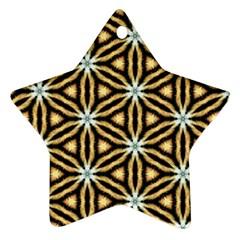 Faux Animal Print Pattern Star Ornament by creativemom