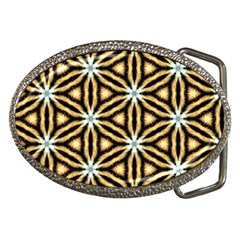 Faux Animal Print Pattern Belt Buckle (oval) by creativemom