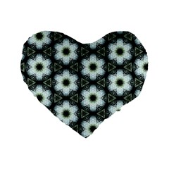 Faux Animal Print Pattern 16  Premium Flano Heart Shape Cushion  by creativemom