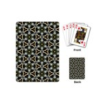 Faux Animal Print Pattern Playing Cards (Mini) Back