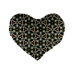 Faux Animal Print Pattern 16  Premium Flano Heart Shape Cushion  by creativemom
