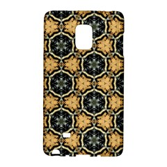 Faux Animal Print Pattern Samsung Galaxy Note Edge Hardshell Case by creativemom