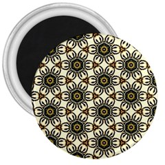 Faux Animal Print Pattern 3  Button Magnet by creativemom