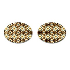 Faux Animal Print Pattern Cufflinks (oval) by creativemom