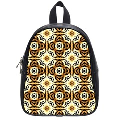 Faux Animal Print Pattern School Bag (small) by creativemom