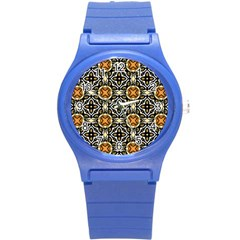 Faux Animal Print Pattern Plastic Sport Watch (small) by creativemom