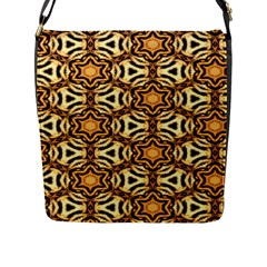 Faux Animal Print Pattern Flap Closure Messenger Bag (large) by creativemom
