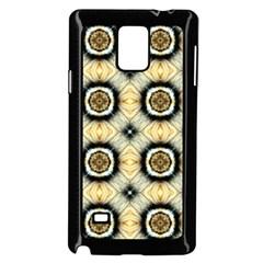 Faux Animal Print Pattern Samsung Galaxy Note 4 Case (black)