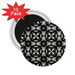 Faux Animal Print Pattern 2 25  Button Magnet (10 Pack) by creativemom