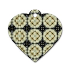 Faux Animal Print Pattern Dog Tag Heart (one Sided)  by creativemom