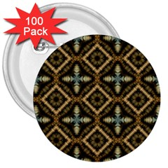 Faux Animal Print Pattern 3  Button (100 pack) by creativemom