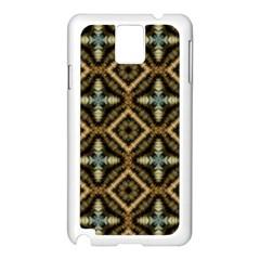 Faux Animal Print Pattern Samsung Galaxy Note 3 N9005 Case (white) by creativemom