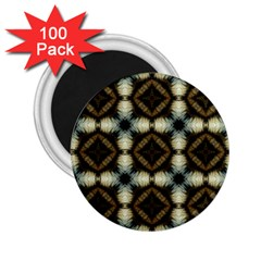 Faux Animal Print Pattern 2 25  Button Magnet (100 Pack) by creativemom