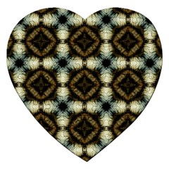 Faux Animal Print Pattern Jigsaw Puzzle (heart) by creativemom