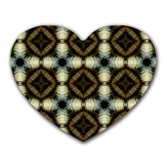 Faux Animal Print Pattern Mouse Pad (heart) by creativemom