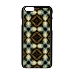 Faux Animal Print Pattern Apple Iphone 6 Black Enamel Case by creativemom