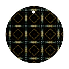 Faux Animal Print Pattern Round Ornament by creativemom