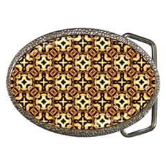 Faux Animal Print Pattern Belt Buckle (oval)