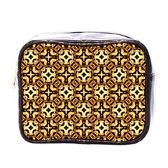 Faux Animal Print Pattern Mini Travel Toiletry Bag (one Side) by creativemom