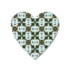 Faux Animal Print Pattern Magnet (heart) by creativemom