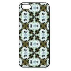 Faux Animal Print Pattern Apple Iphone 5 Seamless Case (black) by creativemom