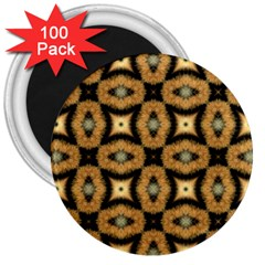 Faux Animal Print Pattern 3  Button Magnet (100 Pack) by creativemom