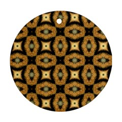 Faux Animal Print Pattern Round Ornament (two Sides) by creativemom