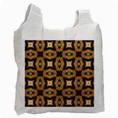 Faux Animal Print Pattern White Reusable Bag (one Side) by creativemom