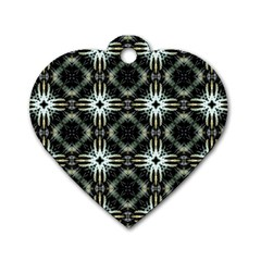 Faux Animal Print Pattern Dog Tag Heart (two Sided) by creativemom