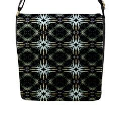 Faux Animal Print Pattern Flap Closure Messenger Bag (large) by creativemom