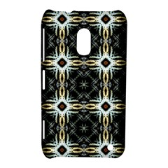 Faux Animal Print Pattern Nokia Lumia 620 Hardshell Case by creativemom
