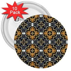 Faux Animal Print Pattern 3  Button (10 Pack) by creativemom