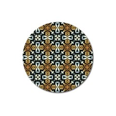 Faux Animal Print Pattern Magnet 3  (round) by creativemom