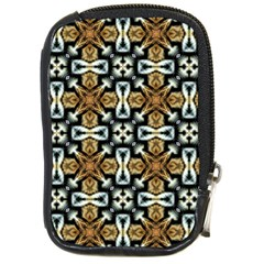 Faux Animal Print Pattern Compact Camera Leather Case by creativemom