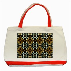 Faux Animal Print Pattern Classic Tote Bag (red) by creativemom