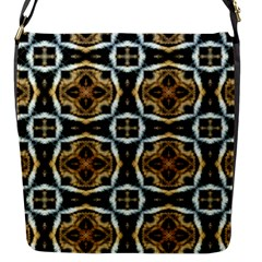 Faux Animal Print Pattern Flap Closure Messenger Bag (small) by creativemom